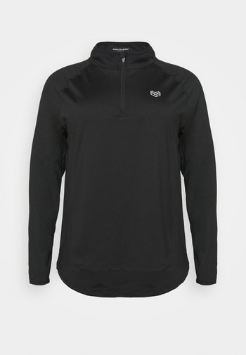 VISTA FITNESS CURVE - Long sleeved top - black
