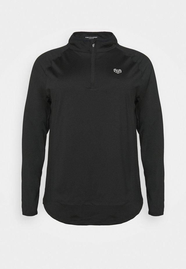 VISTA FITNESS CURVE - Pitkähihainen paita - black