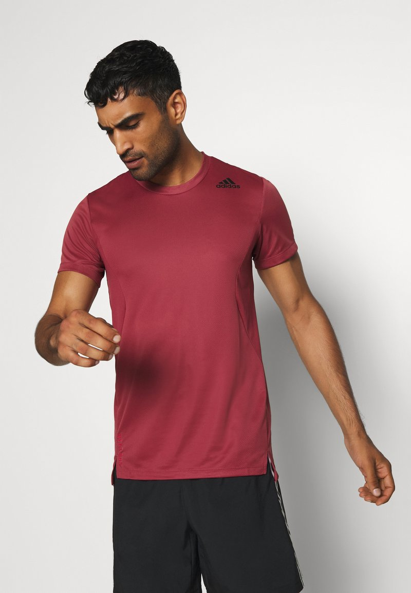 adidas Performance - HEAT.RDY TRAINING SLIM SHORT SLEEVE TEE - Print T-shirt - legend red