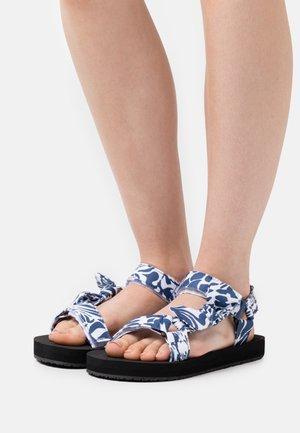 MONIKA - Sandals - blue/white