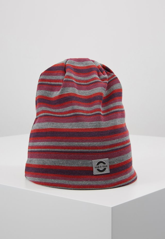 HAT  STRIPES - Bonnet - pompeian red