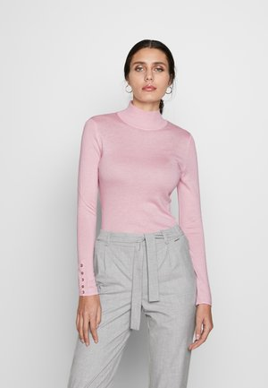 FITTED HIGH NEK - Strikkegenser - light pink