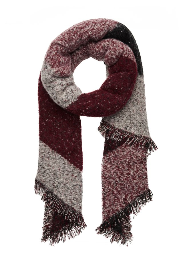 Scarf - dark red/black