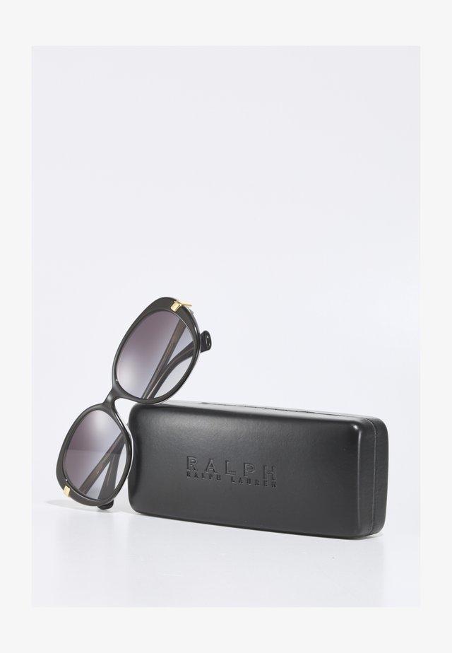 Sunglasses - shiny black on crystal