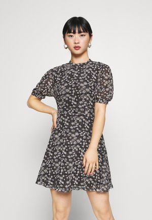 EXCLUSIVE PRINTED PUFF SLEEVE - Kjole - black
