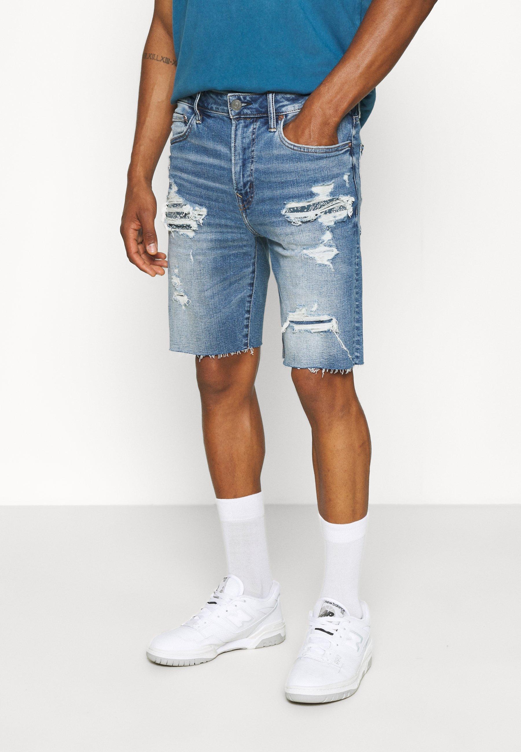 Homme CUT OFF HEM - Short en jean