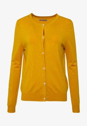 BASIC- PEARL BUTTON CARDIGAN - Cardigan - yellow