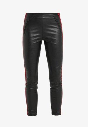 JEAN - Leggings - Trousers - black/red