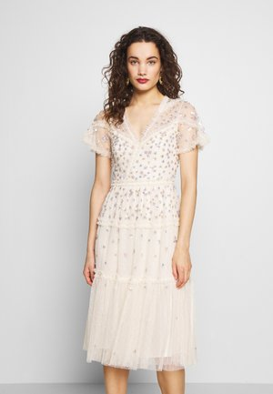 RUFFLE GLIMMER DRESS - Cocktailkleid/festliches Kleid - offwhite