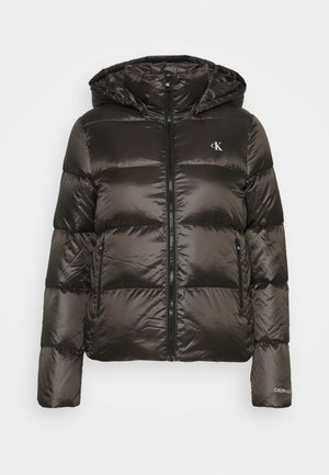 SHINY PUFFER - Down jacket - grey