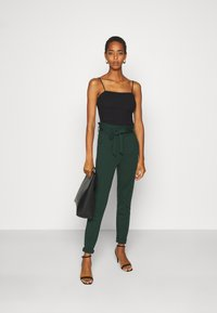 Vero Moda Tall - VMEVA PAPERBAG PANT - Trousers - pine grove - 1