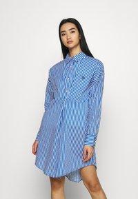 River Island - DAYNA ADJUST DRESS - Shirt dress - blue - 0