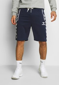 Hummel - HMLXANDER SHORTS - Sports shorts - black iris - 0