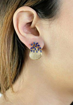 MULTI-COLOR STONE CRUISE SALAMANDER - Earrings - blue