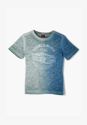 MIT FARBVERLAUF-EFFEKT - Print T-shirt - petrol