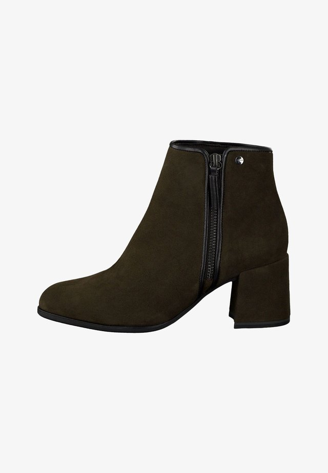 Classic ankle boots - olive/black
