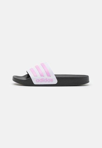 ADILETTE SHOWER UNISEX - Mules - cream white/clear lilac/footwear white