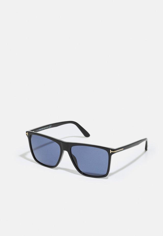 UNISEX - Solbriller - shiny black/ blue