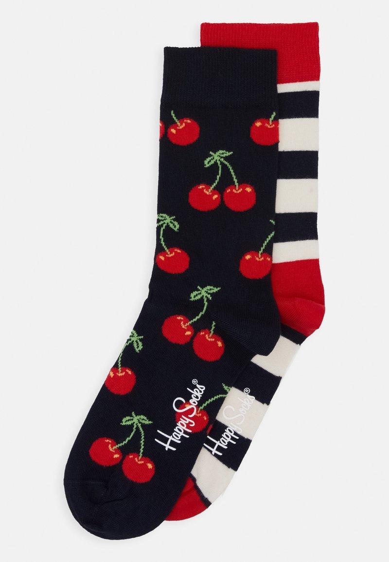 Happy Socks - CHERRY STRIPES 2 PACK - Socks - multi-coloured