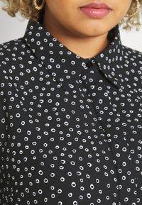 Glamorous Curve - MINI DRESS WITH COLLAR - Shirt dress - black - 5