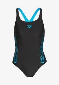 Arena - STAMP SWIM PRO BACK ONE PIECE - Swimsuit - black/turquoise - 3