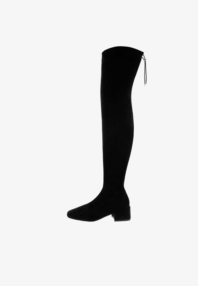 Over-the-knee boots - czarny
