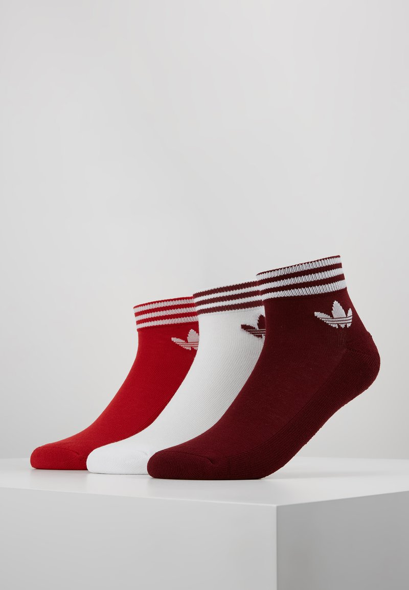 adidas Originals - 3 PACK - Socks - bordeaux/red/white