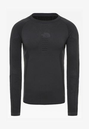 M ACTIVE L/S CREW NECK - Long sleeved top - asphalt grey/tnf black