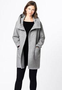 HALLHUBER - Classic coat - hell silber-melange - 0