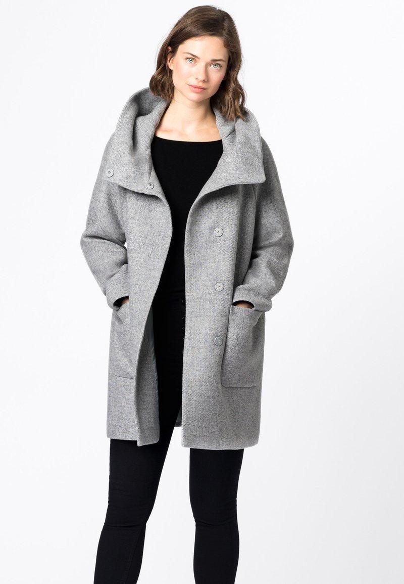 HALLHUBER - Classic coat - hell silber-melange
