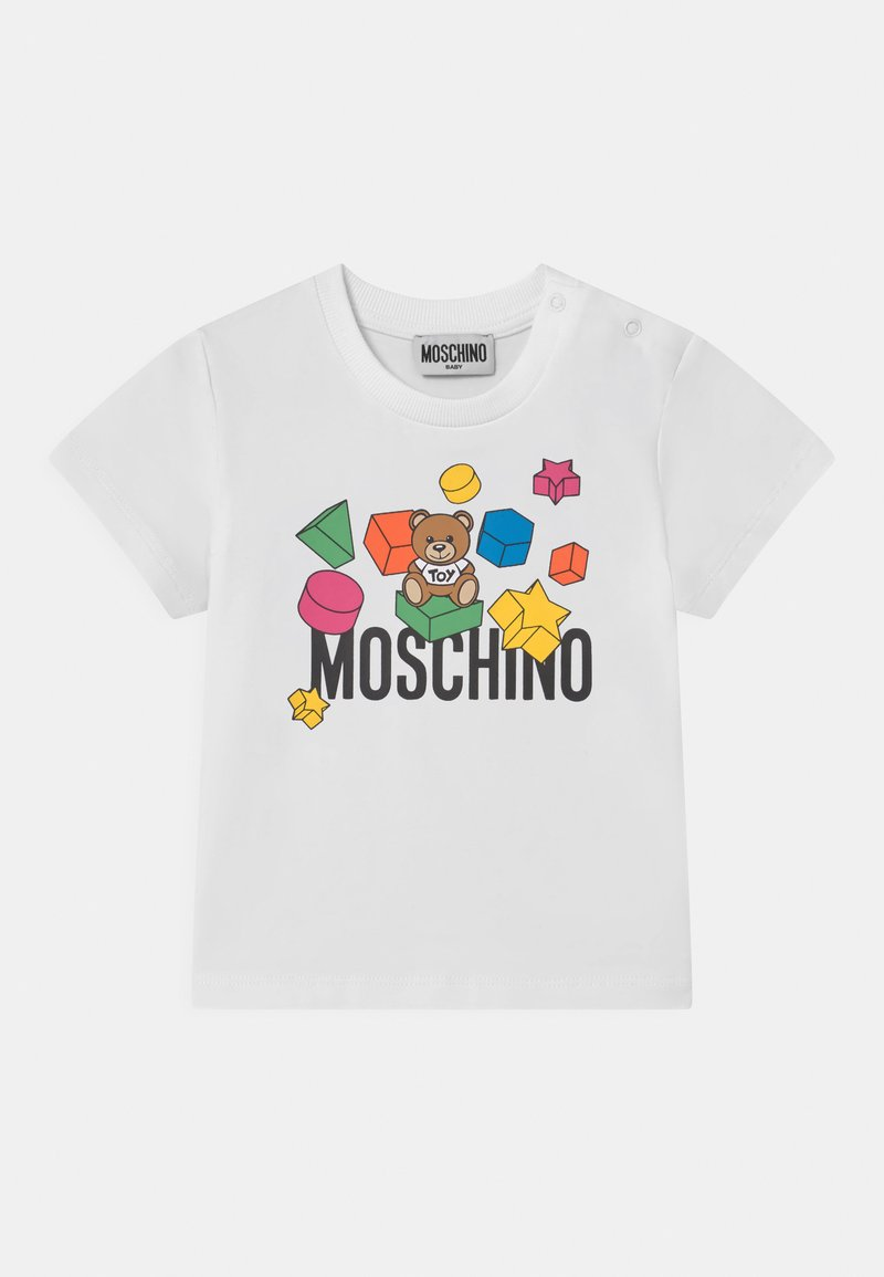 MOSCHINO - UNISEX - Triko s potiskem - optic white