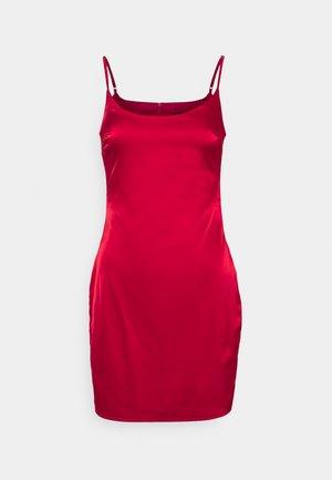 STRETCH BODYCON MINI DRESS - Cocktailjurk - red