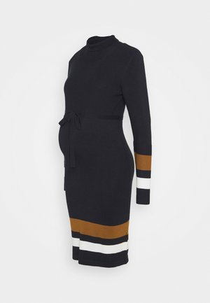 MLJENSA ROLLNECK DRESS - Vestido de punto - black