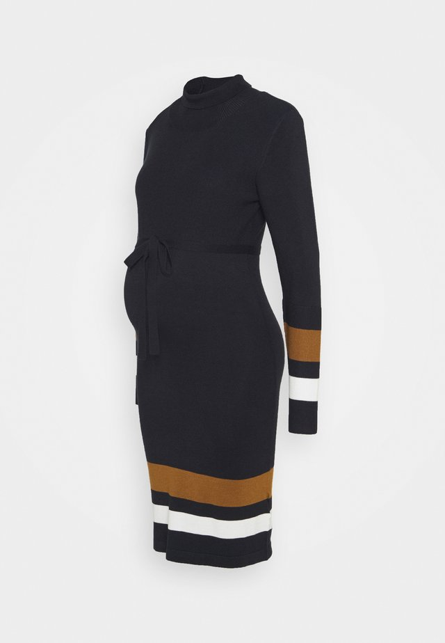MLJENSA ROLLNECK DRESS - Gebreide jurk - black
