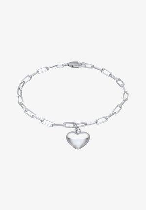 HEART LOVE - Bracelet - silber