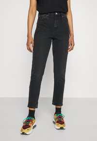 Topshop - MOM              - Straight leg jeans - washed black - 0