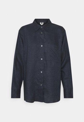 Button-down blouse - charcoal