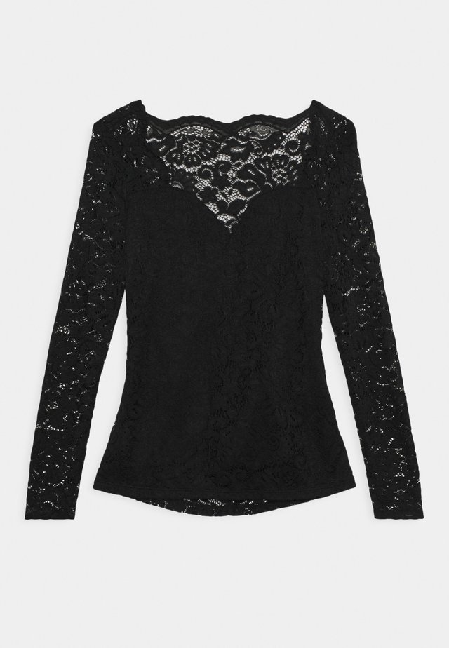 VIELLIS TOP - Bluzka - black