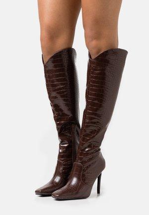 SHEA - Vysoká obuv - brown