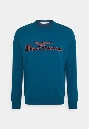 FLOCK SIGNATURE CREW - Sweatshirt - petrol