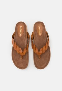 Lazamani - T-bar sandals - tan - 4