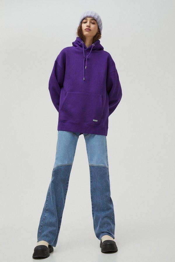 PULL&BEAR Bluza z kapturem - mauve Odzież Męska WXZT