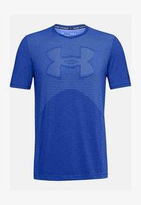 Under Armour - UA SEAMLESS LOGO SS - Sports shirt - emotion blue - 2