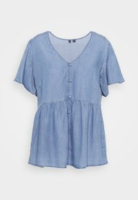 Vero Moda Curve - VMNAENA  - Blouse - light blue denim - 0