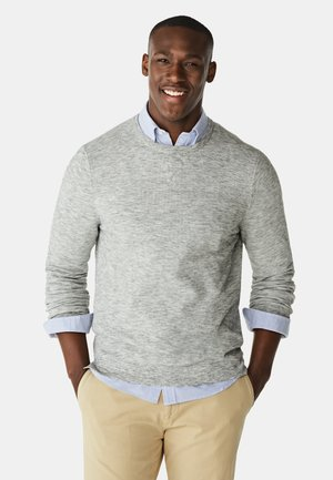 WITH HONEYCOMB STRUCTURE - Jumper - medium grey