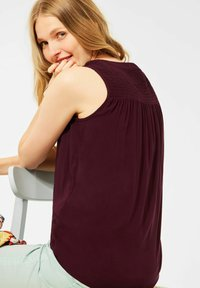 Cecil - MIT SMOK DETAILS - Blouse - rot - 2