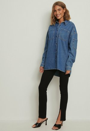 OVERSIZED  - Button-down blouse - mid blue