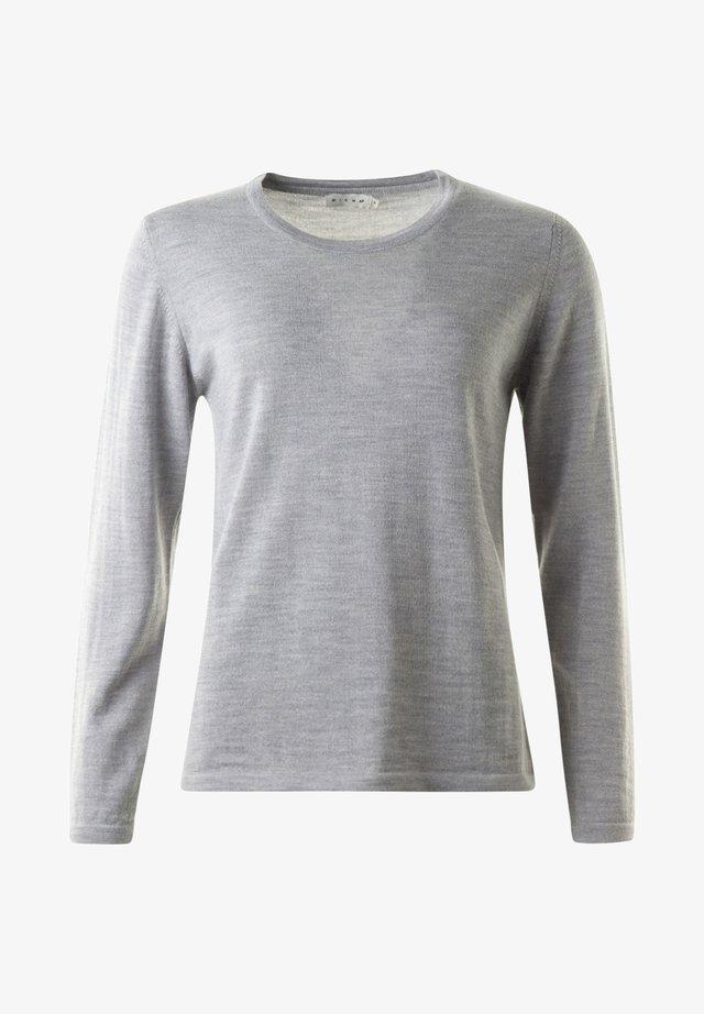 Stickad tröja - lightgreymelange