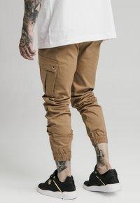 SIKSILK - ELASTIC CUFF PANT - Pantaloni cargo - beige - 2