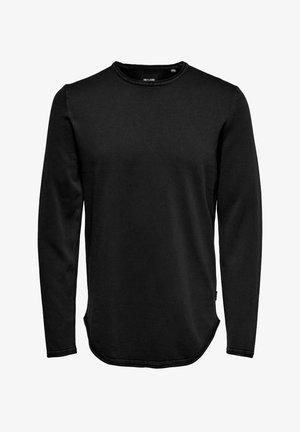 LANGÄRMELIG BASIC - Pitkähihainen paita - black